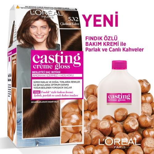 L'Oréal Paris Casting Crème Gloss Saç Boyası 532 Çikolatalı Kahve