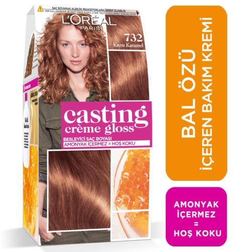 L'Oréal Paris Casting Crème Gloss Saç Boyası 732 Krem Karamel