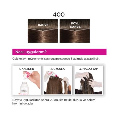 L'Oréal Paris Casting Crème Gloss Saç Boyası 400 Kestane