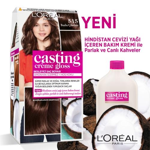 L'Oréal Paris Casting Crème Gloss Saç Boyası 515 Buzlu Çikolata