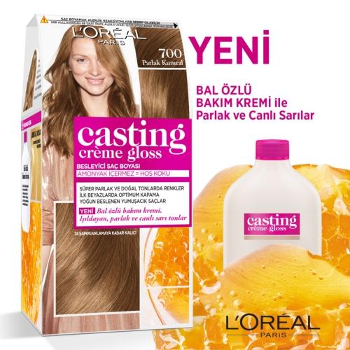 L'Oréal Paris Casting Crème Gloss Saç Boyası 700 Parlak Kumral