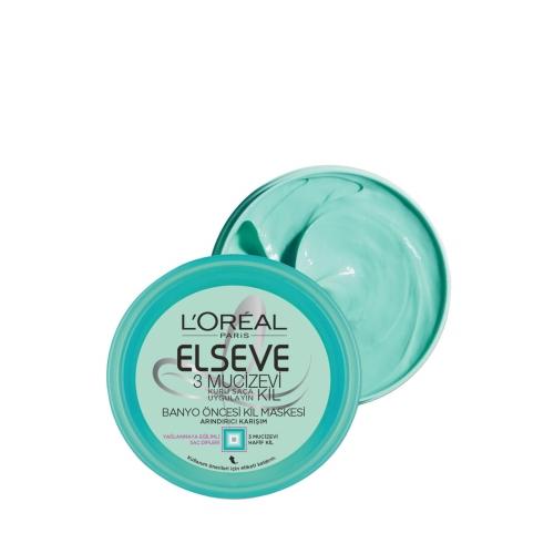 L'Oréal Paris Elseve Maske 3 Mucizevi Kil Maskesi 150 Ml