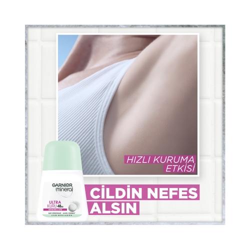 Garnier Mineral Rollon Ultra Kuru 50 Ml