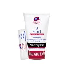Neutrogena El Kremi Parfümsüz 75 Ml+Dudak Nemlendirici Hediye