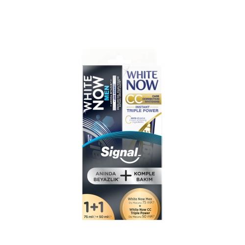 Signal White Now Men 75 Ml + White Now CC Gold Diş Macunu 50 Ml