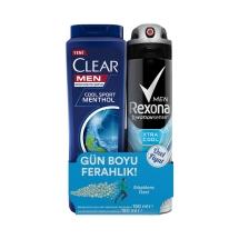 Rexona Deodorant Xtra Cool Men 150 Ml+Clear 180 Ml