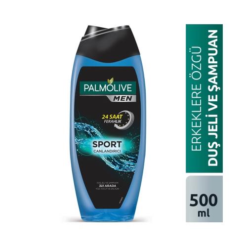 Palmolive Men Sport 3'ü 1 Arada Yüz,Vücut ve Saç için Duş Jeli ve Şampuan 500 Ml