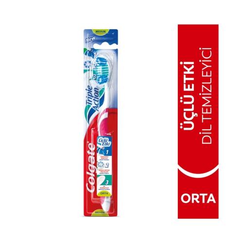 Colgate Üçlü Etki Orta Diş Fırçası