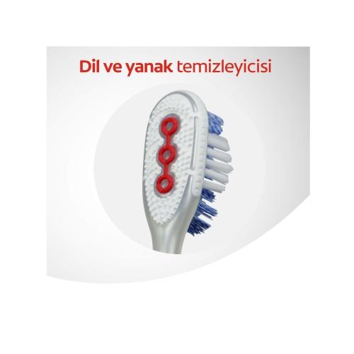 Colgate 360 Optik Beyaz Orta Beyazlatıcı Diş Fırçası 1+1