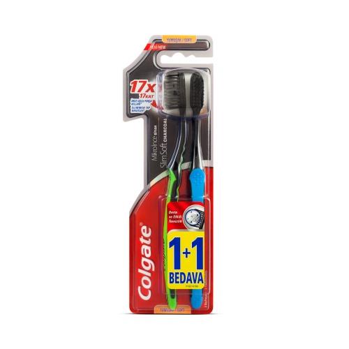 Colgate Mikro İnce Siyah Yumuşak Diş Fırçası 1+1