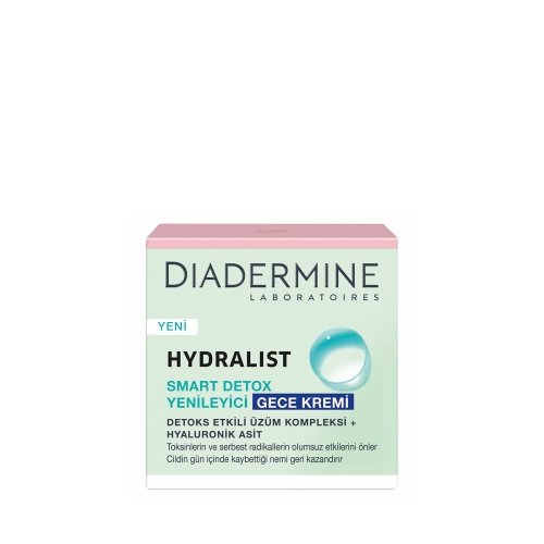 Diadermine Hydralist Nemlendirici Gece Krem Smart Detox Etkili 50 Ml