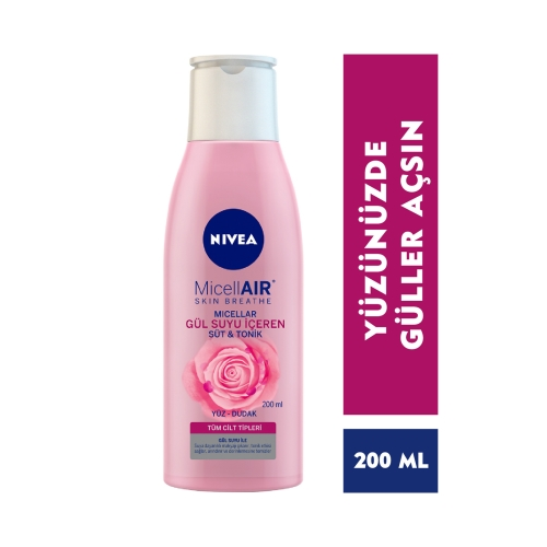 Nivea Aqua Rose Organik Gül Suyu İçeren Süt & Tonik 200 Ml