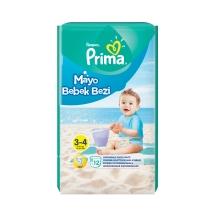 Prima Mayo Bebek Bezi 3 Beden Midi Tekli Paket 12 Adet