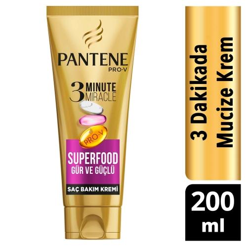 Pantene 3 Minute Miracle Saç Bakım Kremi Superfood 200 Ml