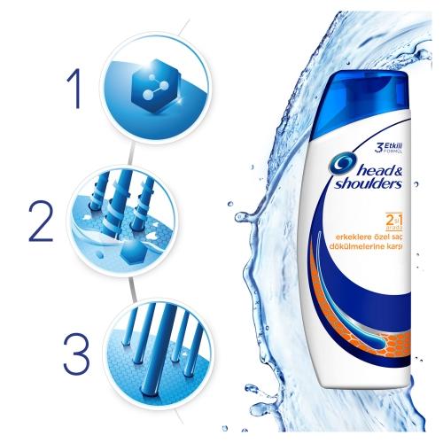 Head&Shoulders 2'si 1 Arada Şampuan Erkeklere Özel Saç Dökümelerine Karşı 250 Ml