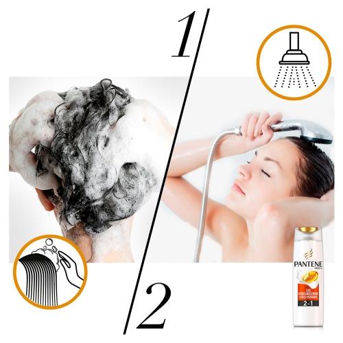 Pantene 3'ü 1 Arada Şampuan ve Saç Bakım Kremi Saç Dökülmelerine Karşı Etkili 400 Ml