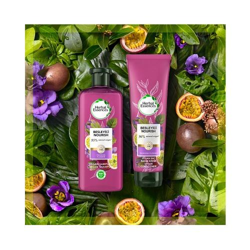 Herbal Essences Bio:Renew Çarkıfelek Çiçeği ve Pirinç Sütü Besleyici Saç Bakım Kremi 360 Ml