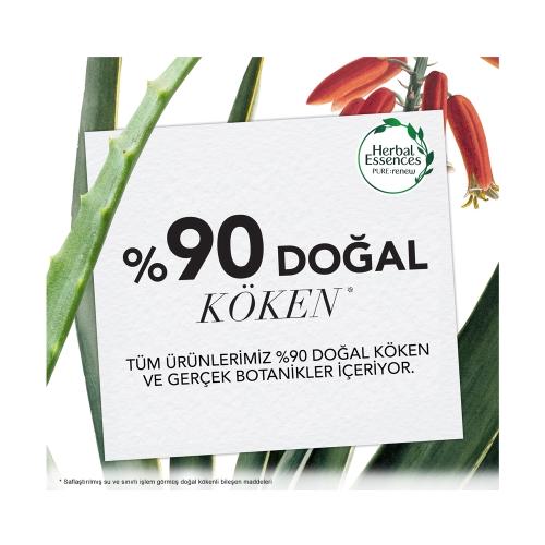 Herbal Essences Bio:Renew Beyaz Çilek ve Tatlı Nane Arındırıcı Saç Bakım Kremi 360 Ml