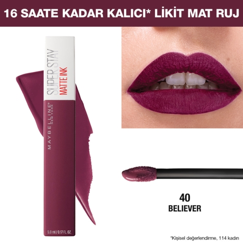 Maybelline New York Super Stay Matte Ink Ruj-40 Believer