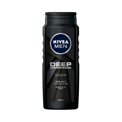 Nivea Duş Jeli Deep Dimension Clean Men 500 Ml