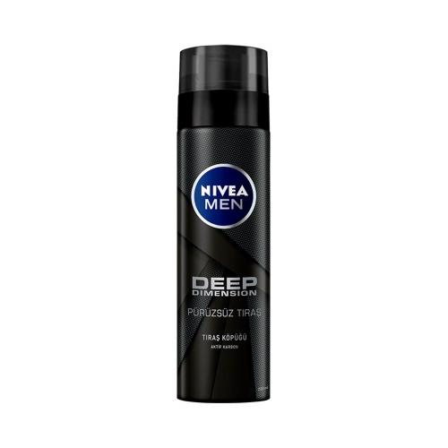 Nivea For Men Tıraş Köpüğü Deep Dimension 200 Ml
