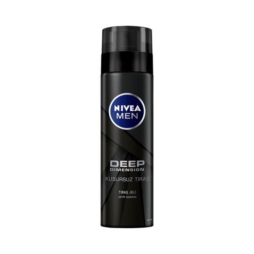 Nivea For Men Tıraş Jeli Deep Dimension 200 Ml Kusursuz Tıraş