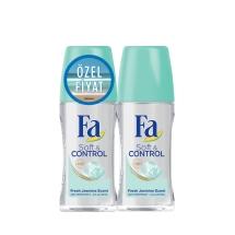 Fa Deodorant Roll-On 2'li Soft&Control