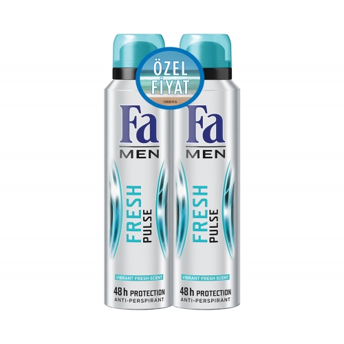 Fa Deodorant 2'li Fresh Pulse Men 150 Ml+150 Ml