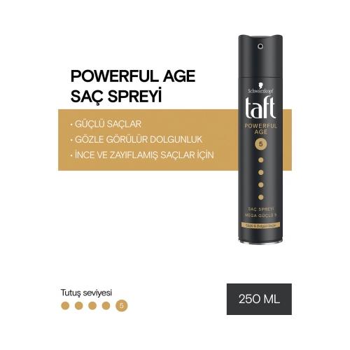 Taft Saç Sprey Powerfull Age Mega Güçlü 5