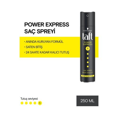 Taft Saç Spreyi Power Express 5 250 Ml