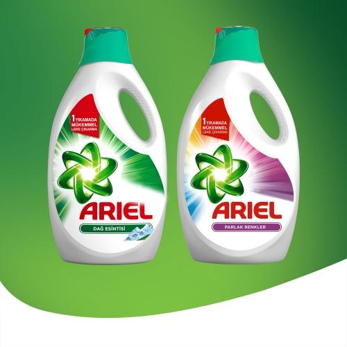 Ariel Sıvı Çamaşır Deterjanı Dağ Esintisi 15 Yıkama Beyazlar ve Renkliler