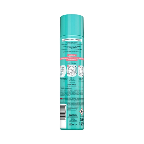 L'Oréal Paris Magic Shampoo Görünmez Kuru Şampuan 200ml -Gül Bahçesi