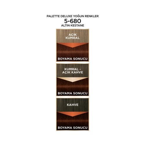 Palette Deluxe Yoğun Renkler 5-680 Altın Kestane