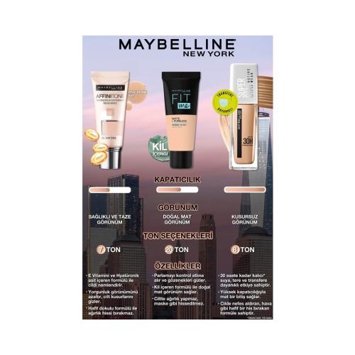 Maybelline New York Fit Me Matte+Poreless Fondöten 105 Natural Ivory