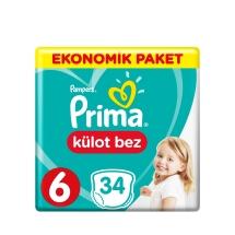 Prima Pampers Külot Bebek Bezi 6 Beden Extra Large Eko Paket 34'Lü