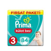 Prima Pampers Külot Bebek Bezi 3 Beden Midi Fırsat Paket 84 Adet