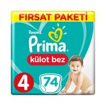 Prima Pampers Külot Bebek Bezi 4 Beden Maxi Fırsat Paketi 74 Adet
