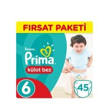 Prima Pampers Külot Bebek Bezi 6 Beden Extra Large Fırsat Paket 45 Adet