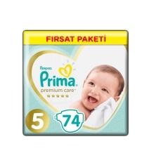 Prima Premium Care Bebek Bezi 5 Beden Junior Aylık Paket 74 Adet