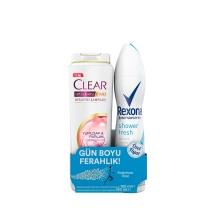 Rexona Shower Fresh Deodorant Women 150 Ml+Clear 180 Ml Bitkisel Sentez