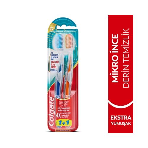 Colgate Mikro İnce Gelişmiş Ekstra Yumuşak Diş Fırçası 1+1