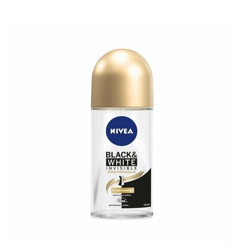 Nivea Deodorant Roll-On Invisible Black&White Ipeksi Pürüzsüzlük Kadın 50 Ml
