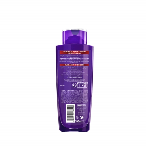 L'Oréal Paris Elseve Turunculaşma Karşıtı Mor Şampuan 200 Ml