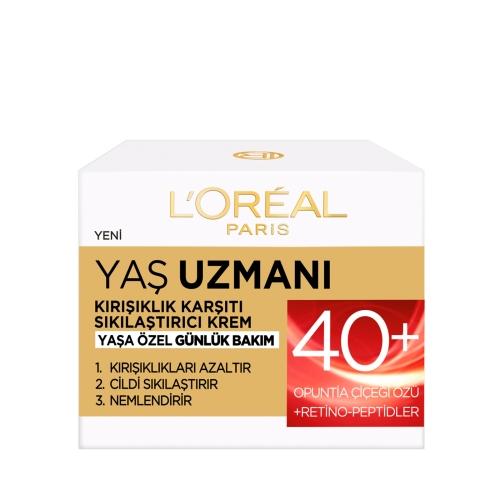 L'Oréal Paris Yaş Uzmanı 40 + Kırışıklık Karşıtı Sıkılaştırıcı Krem 50 Ml