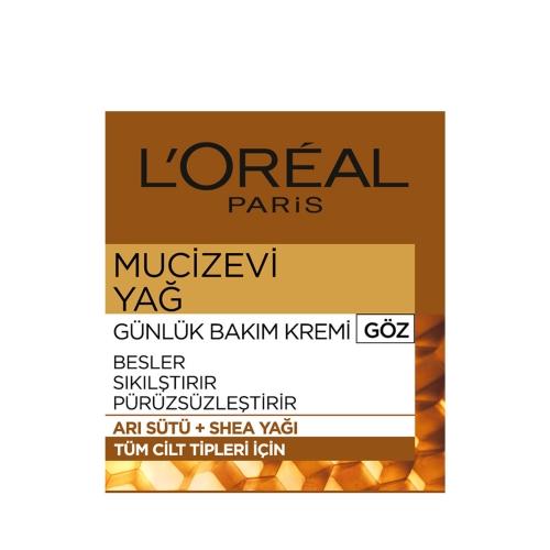 L'Oréal Paris Mucizevi Yağ Günlük Göz Bakım Kremi 15 Ml