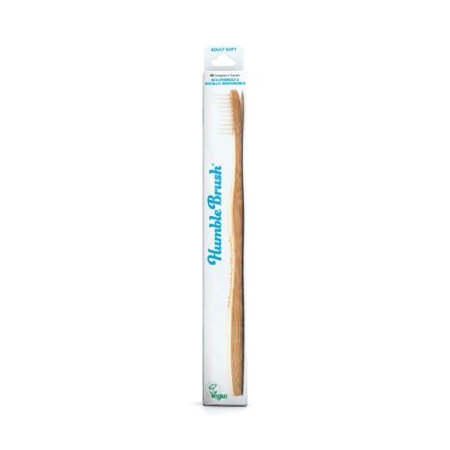 Humble Brush Bambu Yetişkin Diş Fırçası Beyaz