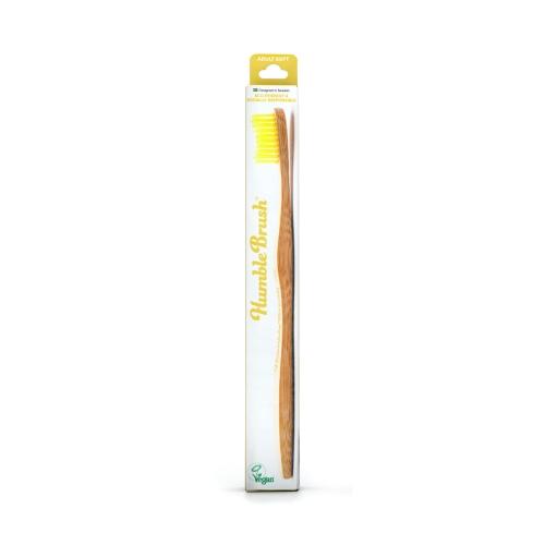 Humble Brush Bambu Yetişkin Diş Fırçası Sarı