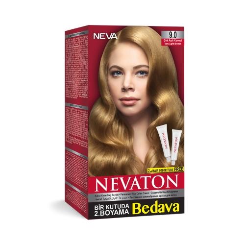 Neva Nevaton Saç Boyası 9.0 Çok Açık Kumral