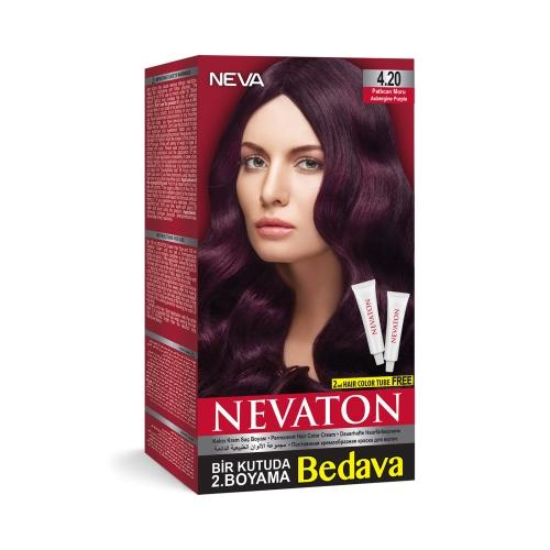 Neva Nevaton Saç Boyası 4.20 Patlıcan Moru