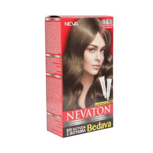 Neva Nevaton Saç Boyası 7.11 Kumral Yoğun Küllü